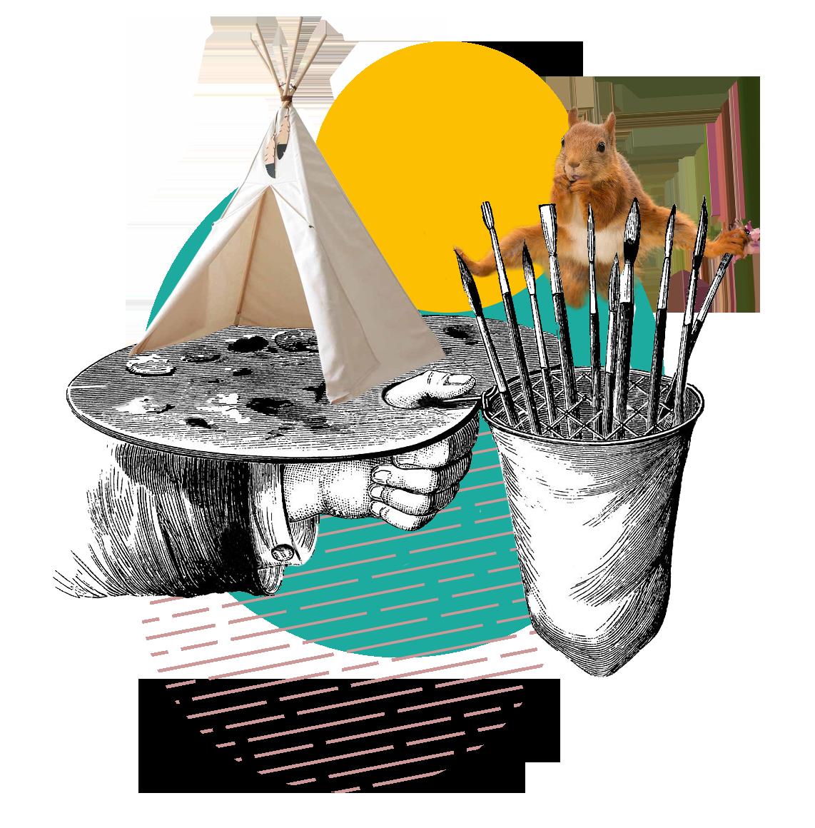 Kamp ilustracija